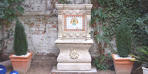 Wandbrunnen gartenbrunnen au enbrunnen im hinger 39 s brunnenshop - Garten wandbrunnen ...